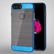 Flexsilk Bumper Frame Transparent Hybrid Case for iPhone 8 Plus / 7 Plus / 6S Plus / 6 Plus - Blue
