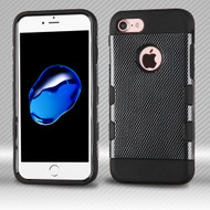 Military Grade Certified TUFF Trooper Dual Layer Hybrid Armor Case for iPhone 8 / 7 - Carbon Fiber