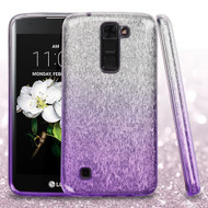 Full Glitter Hybrid Protective Case for LG K7 / K8 / Escape 3 / Treasure LTE / Tribute 5 - Gradient Purple