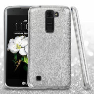 *Sale* Full Glitter Hybrid Protective Case for LG K7 / K8 / Escape 3 / Treasure LTE / Tribute 5 - Silver