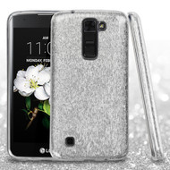 Full Glitter Hybrid Protective Case for LG K7 / K8 / Escape 3 / Treasure LTE / Tribute 5 - Silver