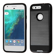 Brushed Hybrid Armor Case for Google Pixel - Black