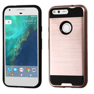 Brushed Hybrid Armor Case for Google Pixel - Rose Gold