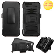 Advanced Armor Hybrid Kickstand Case with Holster for Google Pixel - Black