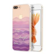 *SALE* Graphic Rubberized Protective Gel Case for iPhone 8 Plus / 7 Plus - Live Laugh Love