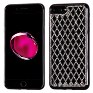 Desire Bling Bling Diamond Electroplated TPU Case for iPhone 8 Plus / 7 Plus - Rhombus Black