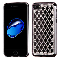 Desire Bling Bling Diamond Electroplated TPU Case for iPhone 8 / 7 - Rhombus Black