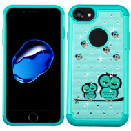 *Sale* TotalDefense Diamond Hybrid Case for iPhone 7 - Owl Teal