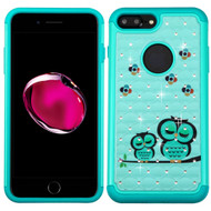 *Sale* TotalDefense Diamond Hybrid Case for iPhone 7 Plus - Owl Teal
