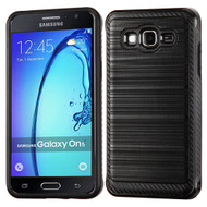 Brushed Multi-Layer Hybrid Armor Case for Samsung Galaxy On5 - Black