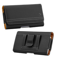 Premium Horizontal Leather Pouch Case - Black 25808