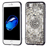*Sale* Desire Bling Bling Diamond Electroplated Transparent Case for iPhone 7 - Sunflower Grey