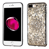 *Sale* Desire Bling Bling Diamond Electroplated Transparent Case for iPhone 7 Plus - Sunflower Chrome