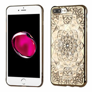 Desire Bling Bling Diamond Electroplated Transparent Case for iPhone 8 Plus / 7 Plus - Sunflower Gold