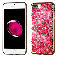 *SALE* Desire Bling Bling Diamond Electroplated Transparent Case for iPhone 7 Plus - Sunflower Hot Pink