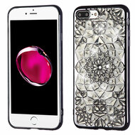 *Sale* Desire Bling Bling Diamond Electroplated Transparent Case for iPhone 7 Plus - Sunflower Grey