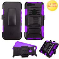 *Sale* Advanced Armor Hybrid Kickstand Case with Holster for Google Pixel - Black Purple