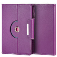 Universal Rotating Leather Portfolio Kickstand Case - Purple