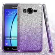 Full Glitter Hybrid Protective Case for Samsung Galaxy On5 - Gradient Purple