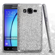 Full Glitter Hybrid Protective Case for Samsung Galaxy On5 - Silver