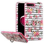 Verge Image Hybrid Case with Ring Holder for iPhone 8 Plus / 7 Plus - Fresh Roses