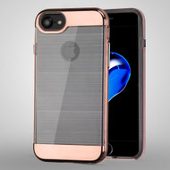 Flexsilk Bumper Frame Transparent Hybrid Case for iPhone 8 / 7 - Rose Gold