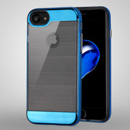 *Sale* Flexsilk Bumper Frame Transparent Hybrid Case for iPhone 7 - Blue