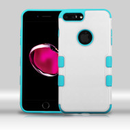 Military Grade TUFF Merge Hybrid Armor Case for iPhone 8 Plus / 7 Plus - White Teal