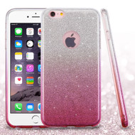 Full Glitter Hybrid Protective Case for iPhone 6 Plus / 6S Plus - Gradient Pink