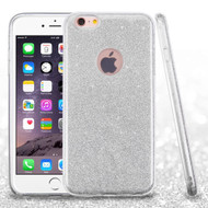 Full Glitter Hybrid Protective Case for iPhone 6 Plus / 6S Plus - Silver