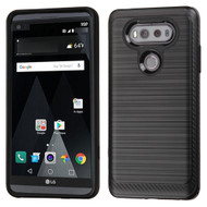 Brushed Multi-Layer Hybrid Armor Case for LG V20 - Black