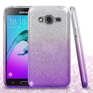 Full Glitter Hybrid Protective Case for Samsung Galaxy Amp Prime / Express Prime / J3 / Sol - Gradient Purple