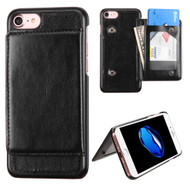 Pocket Wallet Case with Stand for iPhone 8 / 7 - Black