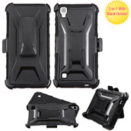 *SALE* Tough Armor Hybrid Kickstand Case with Holster for LG Tribute HD / X Style - Black