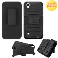 Advanced Armor Hybrid Kickstand Case with Holster for LG Tribute HD / X Style - Black