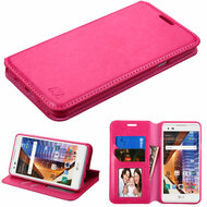 *SALE* Book-Style Leather Folio Case for LG Tribute HD / X Style - Hot Pink