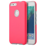 Ezpress Anti-Slip Hybrid Armor Case for Google Pixel - Hot Pink