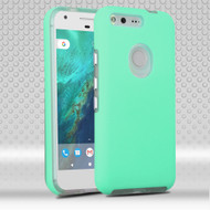Ezpress Anti-Slip Hybrid Armor Case for Google Pixel - Teal Green
