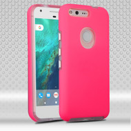 Ezpress Anti-Slip Hybrid Armor Case for Google Pixel XL - Hot Pink