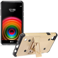 Extreme Armor Hybrid Case with Stand for LG Tribute HD / X Style - Gold