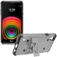 Extreme Armor Hybrid Case with Stand for LG Tribute HD / X Style - Grey