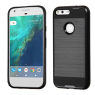 Brushed Hybrid Armor Case for Google Pixel XL - Black