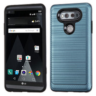 Brushed Multi-Layer Hybrid Armor Case for LG V20 - Ink Blue