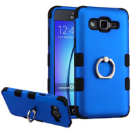 Military Grade Certified TUFF Hybrid Armor Case with Ring Holder for Samsung Galaxy On5 - Blue