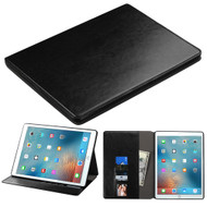 Book-Style Leather Folio Case for iPad Pro 12.9 inch - Black