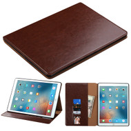 Book-Style Leather Folio Case for iPad Pro 12.9 inch - Brown