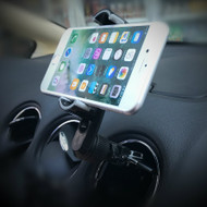 U-Grip Swivel Air Vent Smartphone Car Mount Cradle - Black