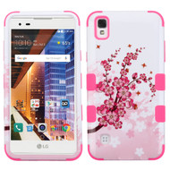 Military Grade TUFF Image Hybrid Armor Case for LG Tribute HD / X Style - Spring Flowers