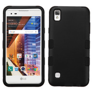 *Sale* Military Grade TUFF Hybrid Armor Case for LG Tribute HD / X Style - Black