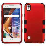 Military Grade TUFF Hybrid Armor Case for LG Tribute HD / X Style - Red